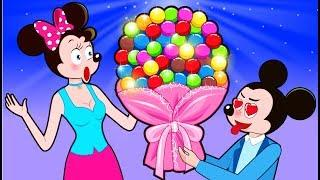 ᴴᴰ Mickey Mouse & Minnie Mouse Beautiful flower Candy Funny Story???? Cartoon for Kids by Mickey Mou