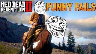 FUNNY MOMENTS Red Dead Redemption 2 | Glitches & Funny Fails