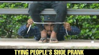 TYING PEOPLES SHOES AND STEALING THEIR STUFF PRANK IN INDIA - DANGEROUS PRANK EVER || BY- MOUZ PRANK