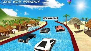 Water Slide Sports Cars Extreme Stunts Game #HD Android Gameplay #Car Racing Games 1 # Racing Games