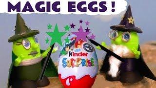 Funny Funlings Magic Kinder Surprise Eggs with Wizard Funling and Thomas and Friends