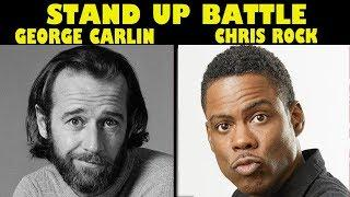 Best Stand up Battle - George Carlin vs Chris Rock (funny comedy moments lol montage compilation)