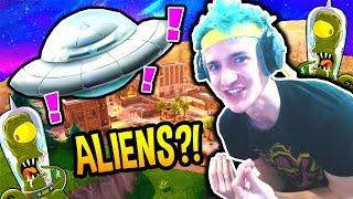 NINJA REACTS TO ALIENS COMING TO FORTNITE!! *REAL THEORY* Fortnite SAVAGE & FUNNY Moments