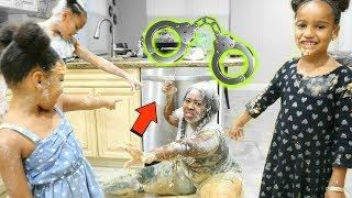 24 hours HAND CUFF PRANK ( GETS MESSY)