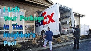 Package Delivery Prank Call  - I Left Your Package In The Neighbors Pool