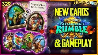 First Rastakhan's Rumble NEW CARDS &  GAMEPLAY | Hearthstone Daily Funny Moments Ep. 329