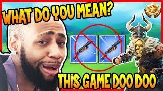 DAEQUAN REACTS TO NO DOUBLE SHOTGUNS NERF! | Fortnite Epic & Funny Moments