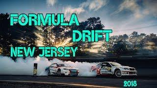 Formula Drift 2018 WALL NEW JERSEY. TOP 32 16 8. Final Battle. Crash.