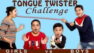 TONGUE TWISTER CHALLENGE   Boys vs Girls #Funny #Bloopers   Family Challenge   Aayu and Pihu Show