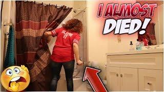 HAVING SEX w ANOTHER GIRL in SHOWER PRANK on GIRLFRIEND!! *GOES WRONG*