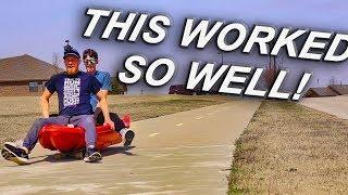 EXTREME KAYAKING // Going Down Roads On A Kayak