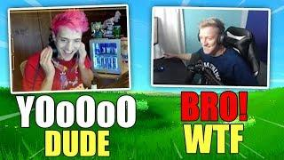 TFUE REACTS TO NINJA IMPERSONATING HIM! Fortnite - Funny and OP Moments