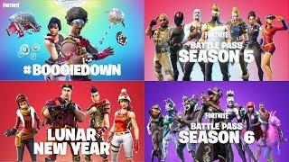 ALL 40 FORTNITE BATTLE ROYALE TRAILERS..!! (Season 1 - Season 6)
