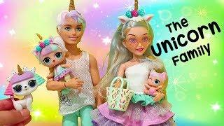 Unicorn Family Pet Prank | Toys and Dolls Fun for Kids Playing with L.O.L. Surprise Babies