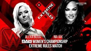 Nia Jax vs Alexa Bliss Womens Championship WWE Extreme Rules 2018 Highlights Match Card & Promo