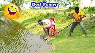 Must Watch Best Funny????????Comedy Videos 2019 - Ep-58_Try not to laugh #FunBoxBD