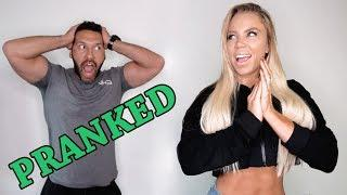 My First Prank On David - He's Mad & Confused!