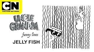 Funny Lines with Uncle Grandpa and Pizza Steve | Jelly Fish | Cartoon Network | CN Mini
