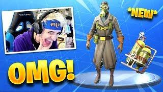 NINJA REACTS *NEW* SKY STALKER SKIN! - Fortnite Funny Fails & WTF Moments #194