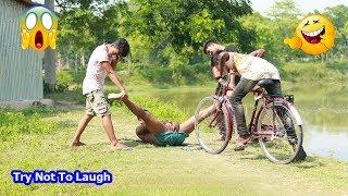 Must Watch Best Funny????????Comedy Videos 2019 - Ep-50_Try not to laugh #FunBoxBD