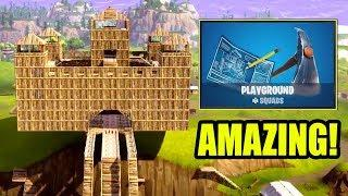 LONGEST ROLLER COASTER IN FORTNITE - PLAYGROUND MODE !Fortnite Op & Funny Moments