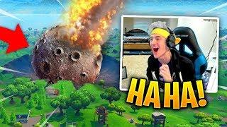 NINJA WATCHES DUSTY DEPOT GET DESTROYED BY METEOR! *SEASON 4* - Fortnite Funny and Best Moments #27