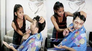 Salon prank on cute girl | male parlour prank on cute girl | prank gone wrong | Annu Singh, BRB-DOP