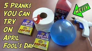 5 Mean Pranks You Can Do On April Fools' Day - HOW TO PRANK (Evil Booby Traps For Easter)