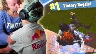 Ninja Kiss Wife When First Win in The New House | Fortnite Funny and WTF Moments Ep.160