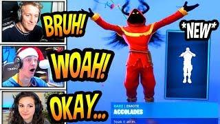 """STREAMERS REACT TO *NEW* """"ACCOLADES"""" EMOTE/DANCE! *RARE* Fortnite FUNNY & SAVAGE Moments"""