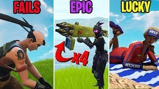 QUAD ROCKETS COMING TO FORTNITE! FAILS vs EPIC vs LUCKY - Fortnite Funny Moments 271 (Battle Royale)