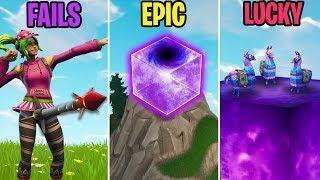 The Purple Cube ACTIVATES! FAIL vs EPIC vs LUCKY - Fortnite Funny Moments (Battle Royale)
