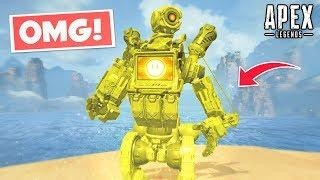 GOLDEN PATHFINDER SKIN FOUND IN APEX LEGENDS!?.. Apex Legends WTF & Funny Moments