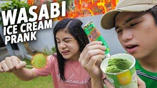 WASABI ICE CREAM PRANK ON SISTER!! | Ranz and Niana