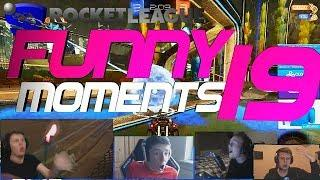 ROCKET LEAGUE FUNNY MOMENTS 19 ???? (FUNNY REACTIONS, FAILS & WINS BY COMMUNITY & PROS!)